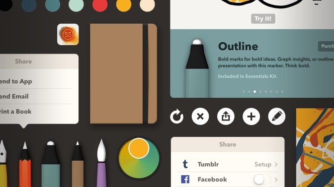FiftyThree Updates Creativity App Paper For iOS 7 To Improve Navigation And Control