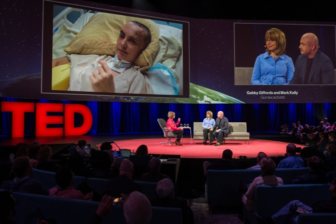 Better, stronger, tougher: Gabby Giffords and Mark Kelly at TED 2014